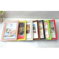 Buy cheap 6inch High glossy with gold foil edge PVC plastic photo frame 7color avaiable from wholesalers