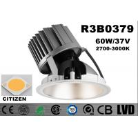 Wholesale High Power 60W Dimmable COB Downlights Round Cut Hole 216mm White Warm Aluminum from china suppliers