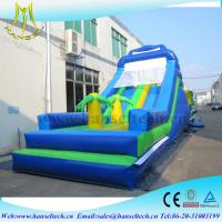 Hansel hot children game equipment inflatable fun park with bouncer jumping slide Manufactures