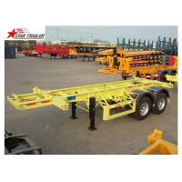 Wholesale Leaf Spring Suspension 3 Axle Flatbed Trailer Light Duty 425/65r222.5 Tire from china suppliers