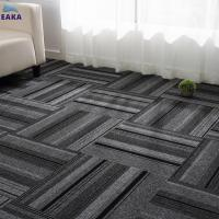 Buy cheap EAKA Stripe Design Level Loop Pile Wrinkle-resistant High Quality Custom Square Exhibition Cheap Carpet from wholesalers