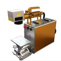 Buy cheap 100X100MM Portable Laser Engraving Machine For Stainless Steel , Laser Marking Device from wholesalers