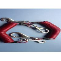 Buy cheap 2.5 mm Fishing /  Diving  Coiled Cable Safety Tool Lanyards With Double Hooks from wholesalers