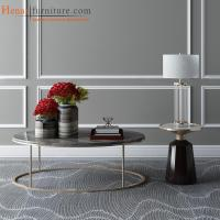 Buy cheap Flash Furniture Henar Collection Marble Coffee Table with Matte Gold Frame from wholesalers
