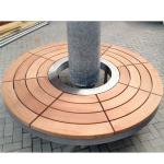 Buy cheap Commercial Waiting Bench Tree Seat Outdoor Tree Around Benches Wooden Storage Bench Seat with Round Tree Bench from wholesalers