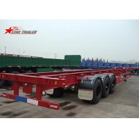 Wholesale Startrailer Red Color Gooseneck Skeletal Container Trailer For Truck , Long Life from china suppliers