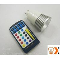 Buy cheap 5w/80mm×50mm RGB color changing led GU10 light bulb and remote AC90 - 240V,50-60 Hz from wholesalers