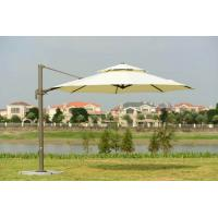 Buy cheap Big White Aluminum Double Patio Umbrella 3.5 M Cantilever Parasol With Heavy Granite Base from wholesalers