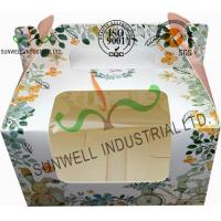 Buy cheap Recycled White Cardboard Cake Packaging Boxes With Lids Full CMYK Printing from wholesalers