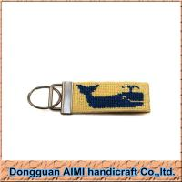 Buy cheap AIMI Promotion custom gifts high quality needlepoint key chain, key fob from wholesalers