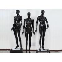 Buy cheap Woman Full Boday Matt Black Clothing Display Mannequin With Different Poses from wholesalers