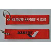 Remove Before Flight Azurair Azur Air Custom Embroidery Keychains for Keys Manufactures