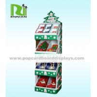 Buy cheap Christmas Gift / Cards Cardboard Floor Displays Red Easy To Carry from wholesalers
