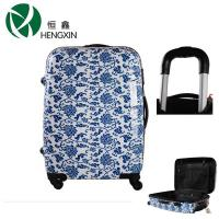 Wholesale Blue White Porcelain ABS Trolley Luggage 4 Wheels Suitcase With TSA Lock from china suppliers