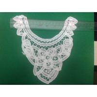Buy cheap white dyeable Neckline Floral Crochet Lace Collar New handmade cotton lace,,environmental dyeing from wholesalers
