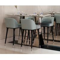 Buy cheap Hotel Restaurant Mid Century Modern Bar Chairs / Upholstered Counter Height Bar Stools from wholesalers