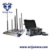 Buy cheap 4 - 8 Bands Drone Signal Jammer 300 Wattage With Manually Switch Control from wholesalers