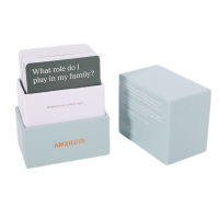 Buy cheap 280 Gram Flash Playing Cards With Questions OEM Finish With Deck Box from wholesalers