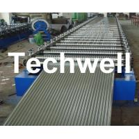 Corrugated Profile Roofing Sheet Roll Forming Machine With Hydraulic, PLC System Manufactures