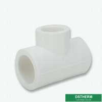 Buy cheap Sanitary White Ppr Pipe Fittings Reducing Tee Size Plastic Pipe Accessories Water Supply from wholesalers