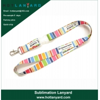 Buy cheap Custom Logo Sublimation Heated Transfer Neck Nylon Woven Polyester Printing Lanyard for Promotional Gift from wholesalers