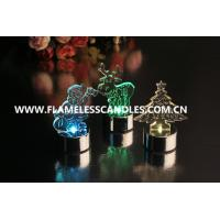 Buy cheap Amber / Color Changing Flameless LED Christmas Candles for Wedding / Holiday Gift from wholesalers