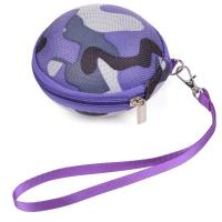 Buy cheap Round Purple Camouflage Earbud Carrying Case Oxford Cloth Velvet Lining With Buckle from wholesalers