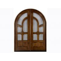 Buy cheap Glazed External Timber Doors with Natural Wood Veneer Door Frame from wholesalers