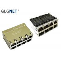 Buy cheap 2 x 4 Stacked 10G Ethernet Port Rj45 Connector 30 U