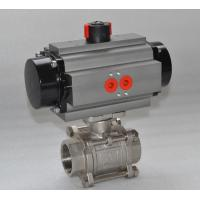 China Thread WCB Stainless Steel Pneumatic Ball Valve / 3 Way Flanged Ball Valve on sale