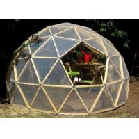 Buy cheap Q235 Multi-functional Transparent White Geodesic Dome Tent With Hop Dip Galvanized Steel Pipe from wholesalers