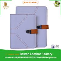 Buy cheap BWB-25-C white leather wholesale blank journals/covers for notebooks print from wholesalers