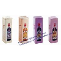 Buy cheap Custom High Quality wine bottle tin packaging , Lovewine bottle packaging  Box from China Metal Packaging Box supplier from wholesalers