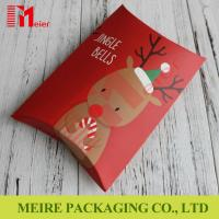 New red printing Christmas creative candy gift box candy pillow box with cheap price Manufactures