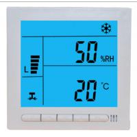 Buy cheap Large LCD Digital Fcu Thermostat / Temperature Humidity Thermostat Wired Controller from wholesalers