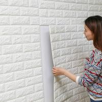 Buy cheap White Color 3d Foam Decorative Wall Art Pvc Wallpaper 3d Brick Wall Panels from wholesalers
