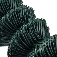 Buy cheap Green Plastic Coated Chain Link Fencing 2 3 / 8 Twist And Knuckled Selvage from wholesalers