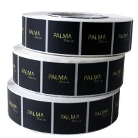 Buy cheap Printing Logo Plastic Sticker Labels Black Color Matt / Foil Stamping Surface from wholesalers