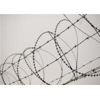 Wholesale Galvanised Barbed Razor Wire , Rust Resistance Concertina Razor Wire For Prison from china suppliers