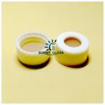 SC221221 nature PTFE/nature Silicone septa 22*3mm, 22mm white/black screw polypropylene cap, 15mm centre hole Manufactures