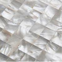 Buy cheap Handmade Beautiful Sea shell Wall Panel White Butterfly Shell Decorating Panel 15x15mm from wholesalers