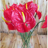 Buy cheap Artificial Faux High Simulation PU Material Home Decor Anthurium Flower from wholesalers
