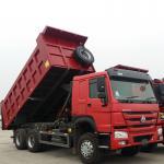 Buy cheap Sinotruk Heavy Duty 6 Wheel Dump Truck Horsepower 251-350hp Red Color from wholesalers