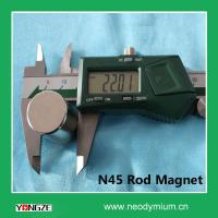 Buy cheap Factory Directly Sale N45 Neodymium Nikel-coated Rod Magnet from wholesalers