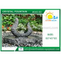 China Rolling Granite Ball Fountain , Stone Sculpture Outdoor Garden Fountains on sale