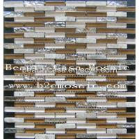 Wholesale Electric Plating Mosaic Tiles Coffee Color,10.5*43.6mm from china suppliers