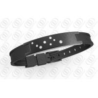 Buy cheap Star Dust Black Silicone Stainless Steel Bracelets Bio Ionized Magnetic for Health from wholesalers