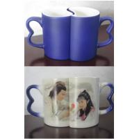 Buy cheap Sublimation Matting Full color Changing Lover's Blue Mug from wholesalers