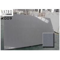 Buy cheap Grey Crystal Artificial Quartz stone Slab Prefab Countertop Solid Surface Color Consistency from wholesalers