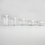 Buy cheap Transparent PET Plastic 97mm 300ml Bulk Cosmetic Jars from wholesalers